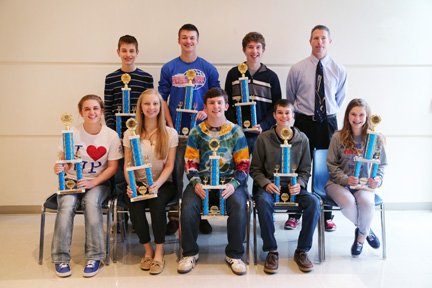 TEAMS Junior Varsity: Wheeling Park High School Team A took 9th & 10th first place at Belmont College's 2014 TEAMS competition.