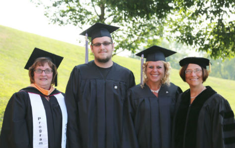Attached Photo (pictured left to right): Sue White, Assistant Director of Nursing and Program Chair; Brian Matthews (Cambridge, Ohio) Practical Nursing Graduate; Nancy Crow (Leesville, Ohio) Registered Nursing Graduate; and commencement speaker Christine Kerwood, Chief Nursing Officer at East Ohio Regional Hospital.