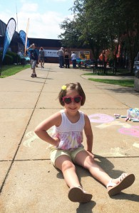 Paige Elmore, age 4, enjoys activities at Belmont College's Family Fun Day. Paige is the daughter of Jackee and Chad Elmore from St. Clairsville, Ohio.